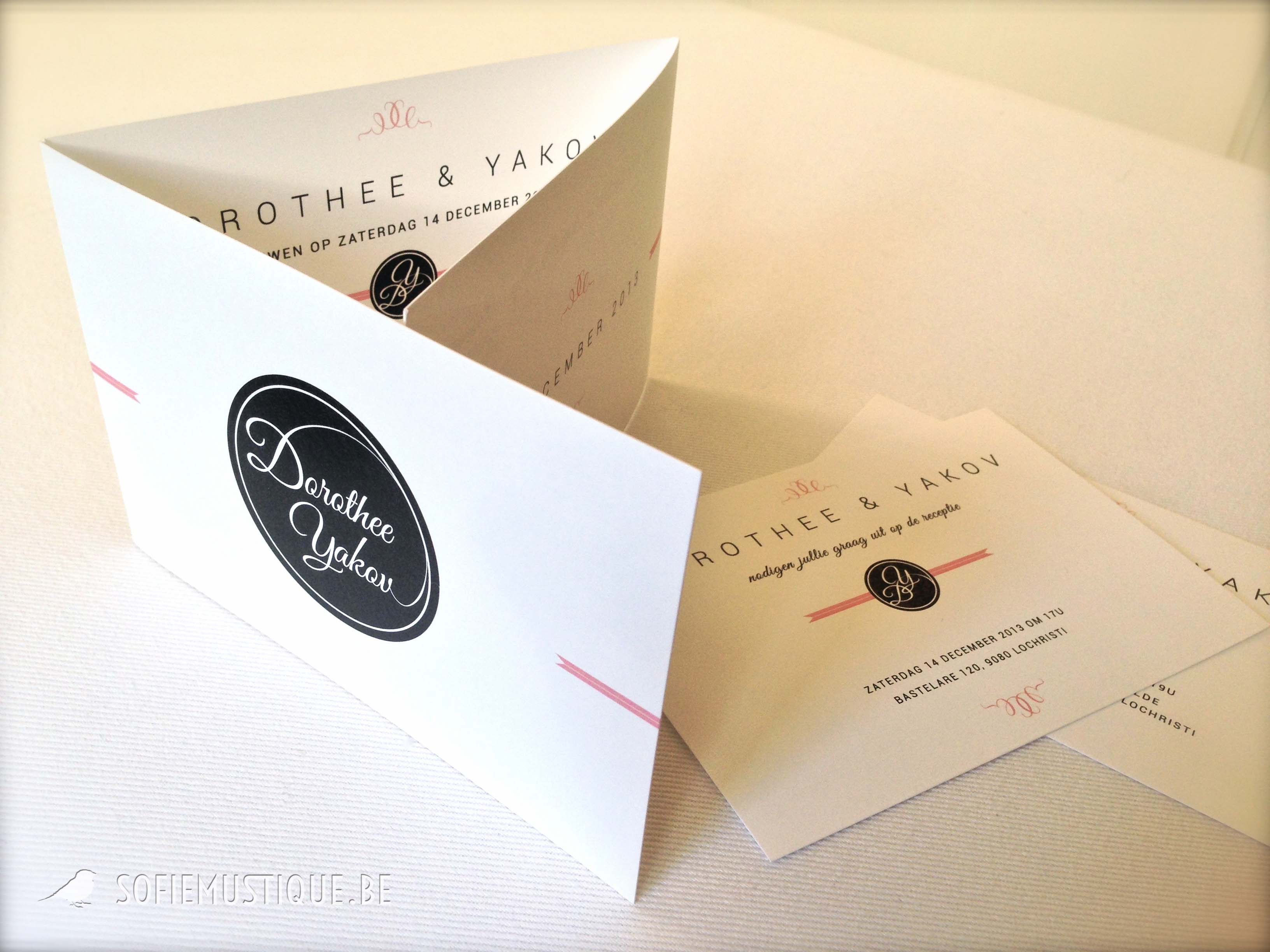 Huwelijksuitnodiging dorothee yakov sofiemustique be