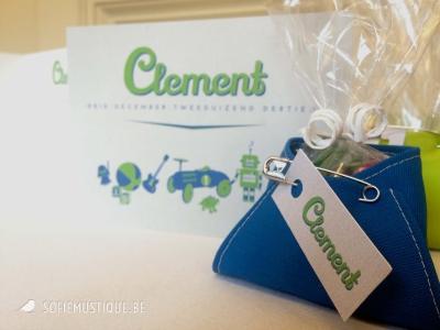 Geboortekaartje Clement