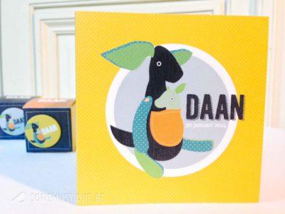 Geboortekaartje Daan (Kangoeroe)
