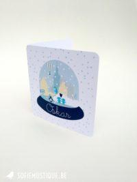 Geboortekaartje Oskar (Snowglobe)