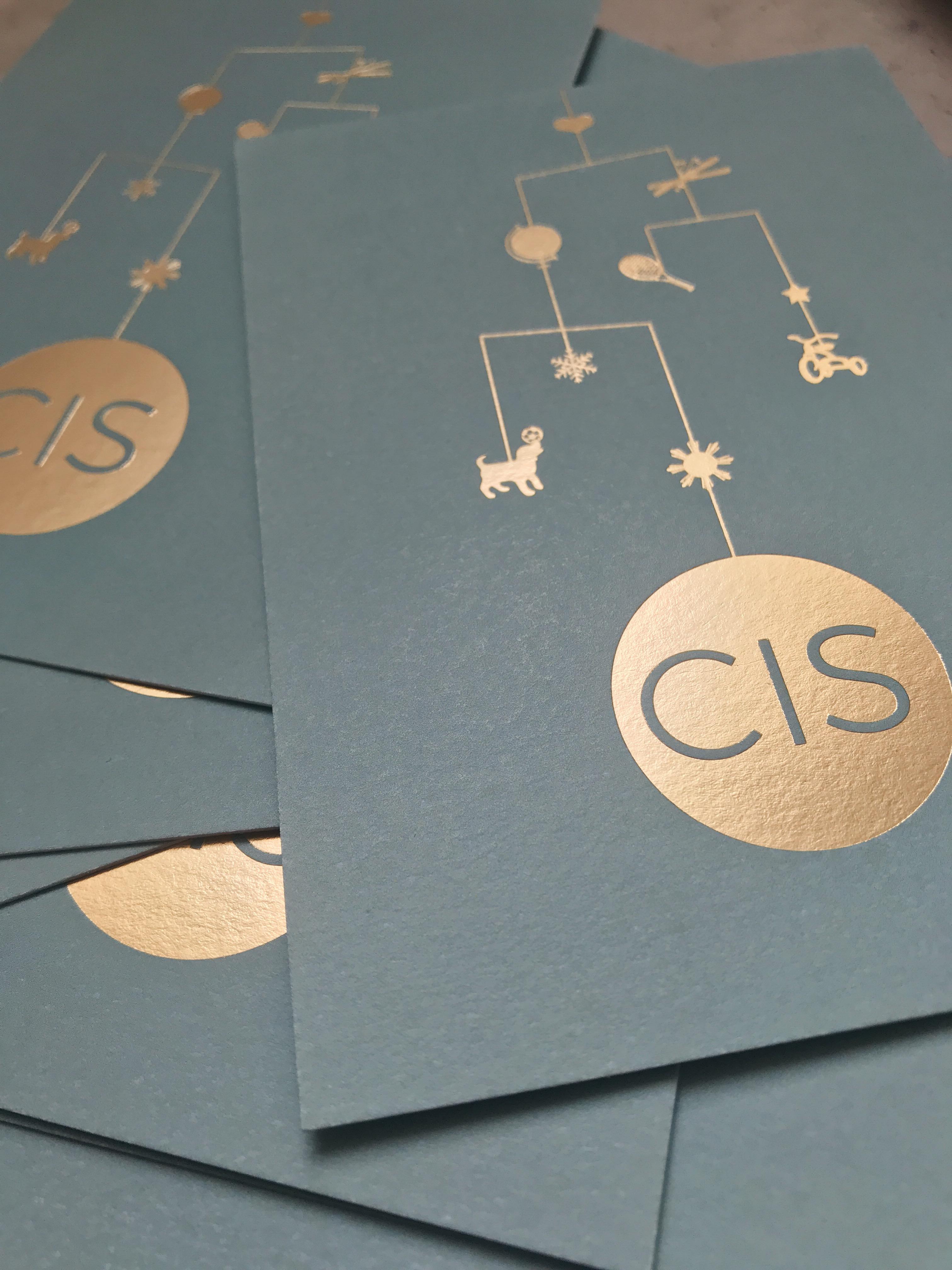 Geboortekaartje Cis - Mobiel - goudfolie - mobile - persoonlijk geboortekaartje
