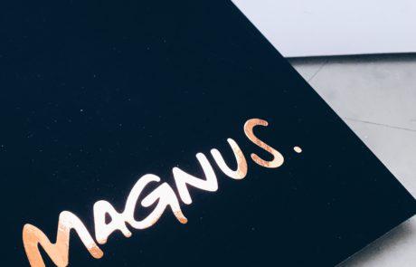 Geboortekaartje Magnus